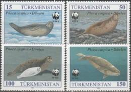 Turkmenistan 1993, Mammals Of Caspian Sea (MNH, **) - Turkménistan