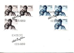 SUEDE. N°617-8 De 1969 Sur Enveloppe 1er Jour. Hibou. - Hiboux & Chouettes
