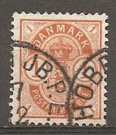 Yv. DK  N°  38     (o)  1o  Jaune-orange Cote  0,75 Euro BE  2 Scans - 1864-04 (Christian IX)