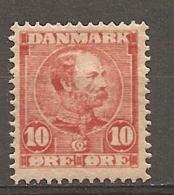 Yv. DK  N°  43   *  10o  Christian IX   Cote  3 Euro BE    2 Scans - Nuovi