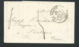 Lac Oblitéré CAD Le Blanc - ,19 Aout 1844 Pour  Poitiers ( Vienne ) - Lx1601 - Marcophilie (Lettres)