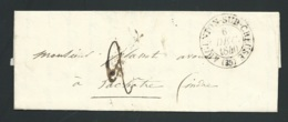 Lac Oblitéré CAD Argenton Sur Creuse , Indre  , 6 Dec 1840 Pour La Chatre ( Indre ) - Lx1602 - Marcophilie (Lettres)