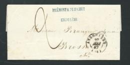Lac Oblitéré ANGOULEME En Mai 1847  , Pour Brossac   -  2 Decimes - Lx1603 - 1801-1848: Précurseurs XIX