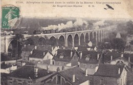 Aéroplane évoluant Dans La Vallée De La Marne - Vue Panoramique De Nogent-sur-Marne - Avions
