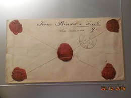Lettre Entier Postal D'Autriche De 1875 (chargée) Avec Cinq Cachets De Cire Au Dos Pour Paris En Recommandé - Storia Postale