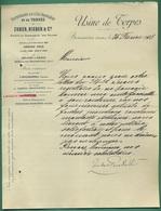 25 Boussieres Zuber Rieder Papeterie De L' Ile Napoléon Usine De Torpes ( Filigrane Torpes ) 26 02 1908 - Printing & Stationeries