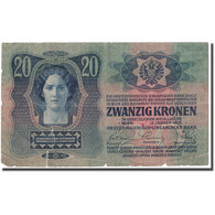 Billet, Autriche, 20 Kronen, 1913, 1913-01-02, KM:13, AB+ - Austria