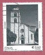 ITALIA REPUBBLICA USATO - 2012 - Duomo Di Fermo -  € 0,60 - S. 3339 - 6. 1946-.. Republic