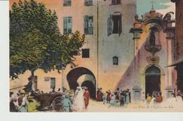 C. P. A. -  VENCE - LA PLACE DE L'EGLISE - L. L. - 9 - MARIAGE - Vence