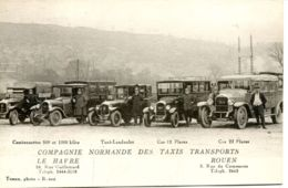 N°68214 -cpa Le Havre -Rouen- Compagnie Normande Des Taxis Transports- - Taxi & Carrozzelle