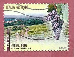ITALIA REPUBBLICA USATO - 2014 - Made In Italy Vini DOCG - Gattinara -  € 0,80 - S. 3525 - 2011-...: Usati