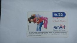 India-smart Card-(40a)-(rs.55)-(siliguri)-(1/6/2007)-used Card+1 Card Prepiad Free - India