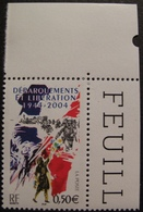 Lot 1880 - 2004 - DEBARQUEMENTS ET LIBERATION 1944-2004 - N°3675 NEUF** COIN DE FEUILLE - France