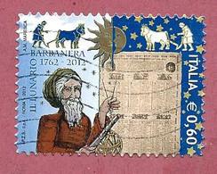 ITALIA REPUBBLICA USATO 2012 - 250º Anniversario Della Prima Edizione Del Lunario Barbanera - € 0,60 - S. 3314 - 2011-...: Usati