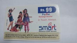 India-smart Card-(40c)-(rs.99)-(siliguri)-(1/1/2007)-(look Out Side)-used Card+1 Card Prepiad Free - India