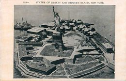 Cpa Statue Of Liberty And Bedloe's Island, NEW YORK - Statue De La Liberté