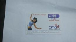 India-smart Card-(40e)-(rs.99)-(siliguri)-(1/1/2007)-(look Out Side)-used Card+1 Card Prepiad Free - India