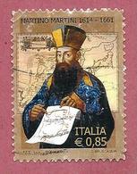 ITALIA REPUBBLICA USATO - 2014 - 4º Centenario Della Nascita Di Martino Martini - € 0,85 - S. 3459 - 2011-...: Usati