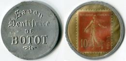 N93-0566 - Timbre-monnaie Dentifrice De Botot 10 Centimes - Kapselgeld - Encased Postage - Monetary / Of Necessity