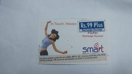 India-smart Card-(40j)-(rs.99plus)-(siliguri)-(1/1/2007)-(look Out Side)-used Card+1 Card Prepiad Free - India