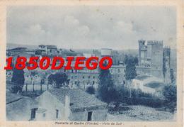 MONTALTO DI CASTRO - VISTA DA SUD F/GRANDE VIAGGIATA 1948 ANIMAZIONE - Viterbo