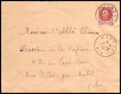 6146/ France Lettre (cover) N°517 Pétain 1943 Marboz Pour Miribel AIN (abbé Thomas) - 1941-42 Pétain