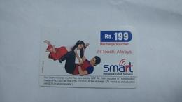 India-smart Card-(40l)-(rs.199)-(siliguri)-(1/1/2008)-(look Out Side)-used Card+1 Card Prepiad Free - India