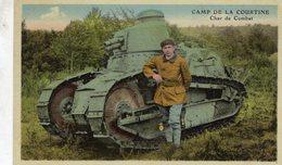 Camp De La Courtine  -  Char De Combat   -  CPA - Guerre 1914-18