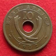 East Africa 10 Cents 1922  Africa Oriental Afrique Afrika #3 Wºº - Monnaies