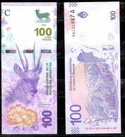 ARGENTINE ARGENTINA 100 PESOS 2018 NEW BANKNOTE  ISSUE FAUNA ANDIN DEER TARUCA UNCIRCULATED - Argentine