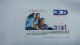 India-smart Card-(40n)-(rs.300)-(siliguri)-(1.1.2006)-(look Out Side)-used Card+1 Card Prepiad Free - India