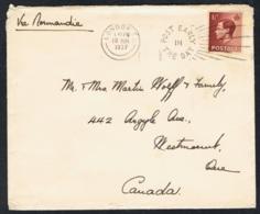 Sept. 1936 Mi 195 Sn 232 Yt 207 Sg 459 AFA 189 Freimarke König Edward  Gelaufen Auf Brief Siehe Scan - Briefe U. Dokumente