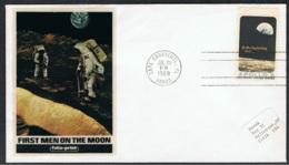 1969 20. Juli 1. Cape Canaveral Bemannte Mondlandung Schmuckbrief Siehe Scan - Vereinigte Staaten