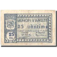 Billet, Espagne, 25 Centimos, Angles, Blason, 1937, 1937-11-09, TTB - Espagne