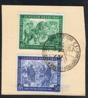 1948 2. März Leipziger Messe  Michel 967 Und 968 Mit Sonderstempel Siehe Scan - Gemeinschaftsausgaben