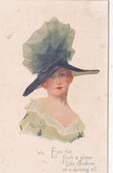 """CPA Femme Lady Glamour Donna Fraü Mode Chapeau Hat Illustrateur W. WIMBUSH """"Oilette"""" N° 2373 - Wimbush"""