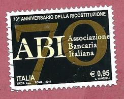 ITALIA REPUBBLICA USATO 2015 - 70º Anniversario Ricostituzione Associazione Bancaria Italiana ABI -  € 0,95 - S. 3616 - 6. 1946-.. Republic