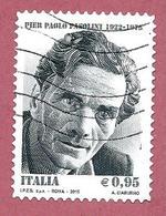 ITALIA REPUBBLICA USATO - 2015 - 40º Anniversario Della Morte Di Pier Paolo Pasolini - € 0,95 - S. 3643 - 1946-.. République