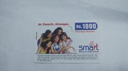 India-smart Card-(40r)-(rs.1000)-(siliguri)-(1.1.2006)-(look Out Side)-used Card+1 Card Prepiad Free - India