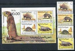 1984- SOMALIA-FAUNA - 4 VAL.+S.S. M.N.H.- LUXE !! - Somalia (1960-...)