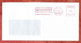 Brief, Francotyp-Postalia F90-0365, Seeger, 80 Pfg, Offenbach 1988 (61765) - [7] West-Duitsland