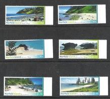 NORFOLK ISLAND 30th SEPTEMBER 2013 SHORELINES OF NORFOLK ISLAND SG 1179/84 MNH - Norfolk Island