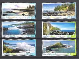 NORFOLK ISLAND 7th MAY 2014 SHORELINES OF NORFOLK ISLAND 2nd ISSUE SG.1189/94 MNH - Norfolk Island
