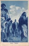 "0738 ""AFRICA - ERITREA - FANTASIA""  ANIMATA. AFFRANCATURA COLONIA ERITREA. CART SPED 1936 - Erythrée"