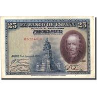 Billet, Espagne, 25 Pesetas, 1928, 1928-08-15, KM:74b, TTB - 1873-1874 : Prima Repubblica