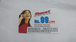 India-smart Card-(41)-(rs.99)-(siliguri)-(1.1.2006)-(look Out Side)-used Card+1 Card Prepiad Free - India