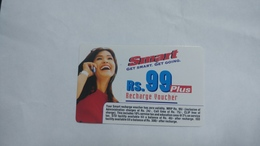 India-smart Card-(41a)-(rs.99)-(siliguri)-(1.1.2006)-(look Out Side)-used Card+1 Card Prepiad Free - India
