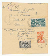INDE FRANÇAISE - Libération (Poste Aérienne YT 10) Sur Lettre Recommandée De PONDICHERY Pour PARIS Du 13/2/1947 - Lettres & Documents