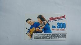 India-smart Card-(41b)-(rs.300)-(siliguri)-(1.1.2006)-(look Out Side)-used Card+1 Card Prepiad Free - India