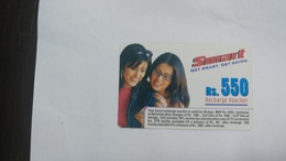 India-smart Card-(41d)-(rs.550)-(siliguri)-(1.7.2005)-(look Out Side)-used Card+1 Card Prepiad Free - India